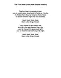 The First Noel: Lyrics page