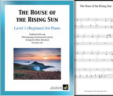 The House of the Rising Sun Level 1 - Cover & 1st piano sheet