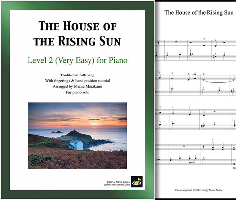 The House of the Rising Sun Level 2 - Cover & 1st piano sheet