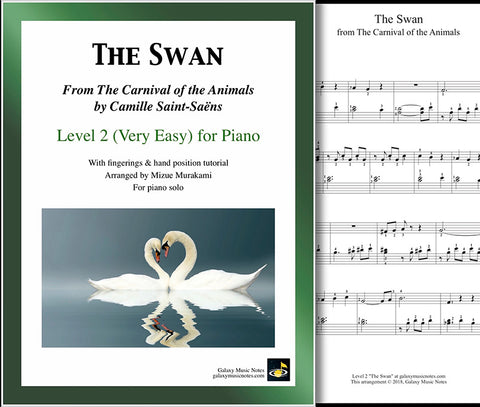 The Swan: Level 2 - 1st music sheet & cover