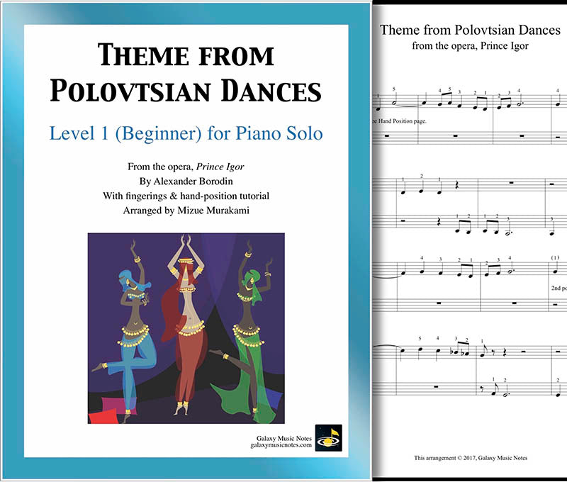 Theme from Polovtsian Dances Level 1 - Cover & 1st page