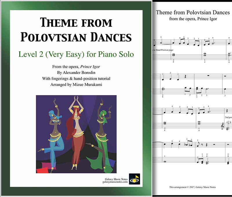 Theme from Polovtsian Dances Level 2 - Cover & 1st page