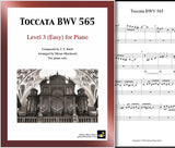 Toccata BWV 565 Level 3 - Cover sheet & 1st page
