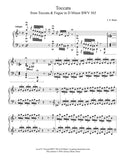 Toccata BWV 565: Level 6 Piano sheet music - page 1