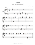 Trepak from The Nutcracker Level 2 - 1st piano music sheet