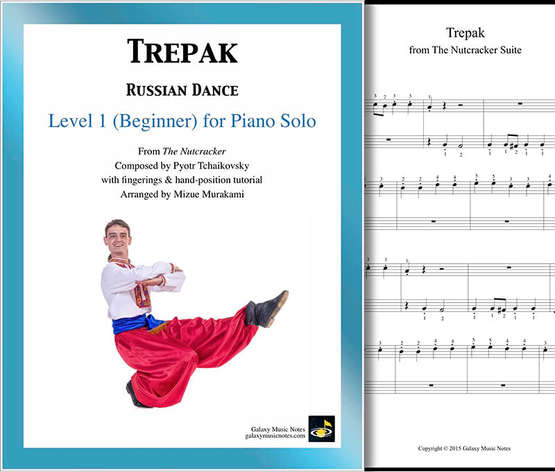 Trepak | Nutcracker | Level 1 - Cover sheet & 1st page