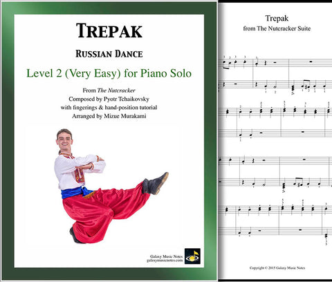 Trepak | Nutcracker | Level 2 - Cover sheet & 1st page