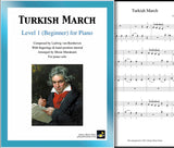 Turkish March by Beethoven Level 1 - Cover & 1st piano sheet