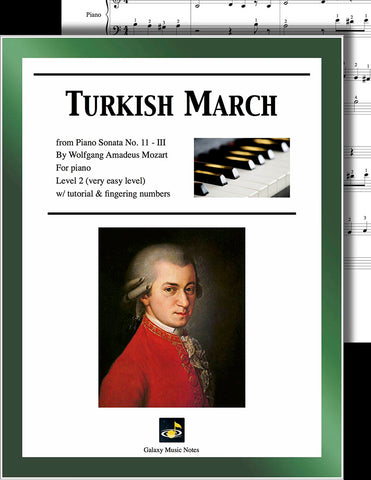 Turkish March by Mozart Level 2 - Cover sheet
