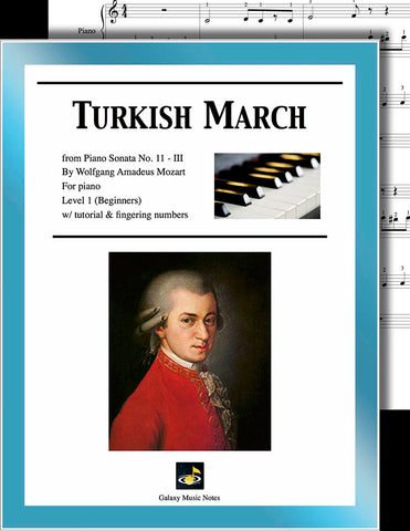 Turkish March by Mozart Level 1 - Cover sheet