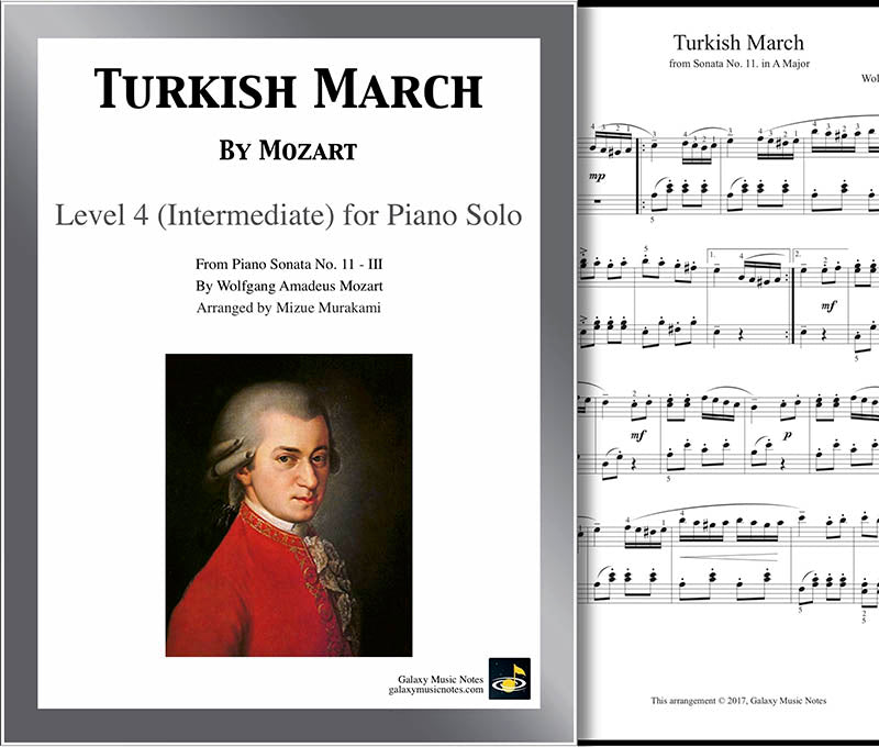 Turkish March | Mozart | Level 4 - Cover sheet & 1st page