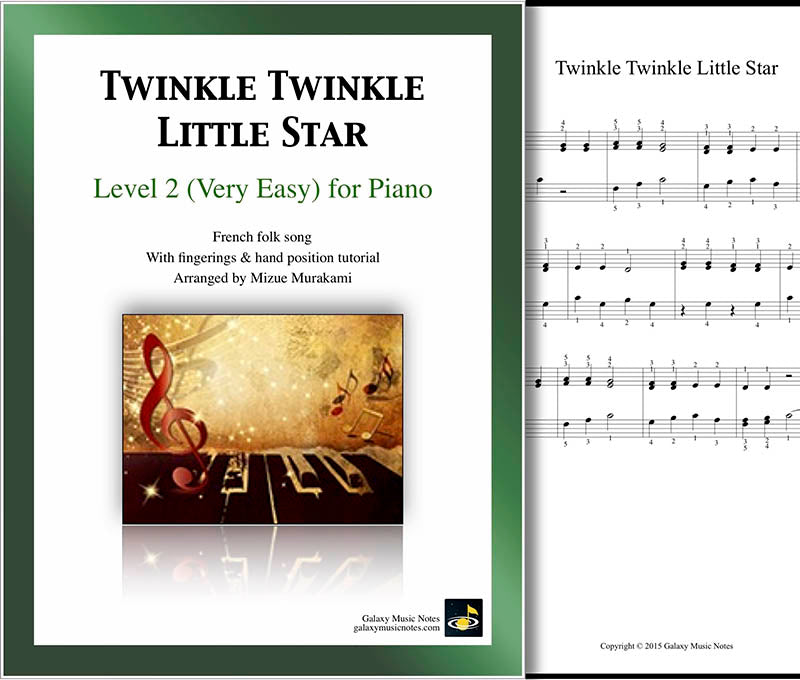 Twinkle Twinkle Little Star Level 2 - Cover & 1st piano sheet