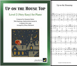 Up on the Housetop Level 2 - Cover & 1st piano sheet