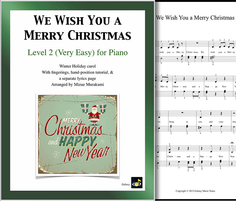 picture regarding Lyrics to We Wish You a Merry Christmas Printable called We Drive By yourself a Merry Xmas Pretty straightforward piano sheet new music