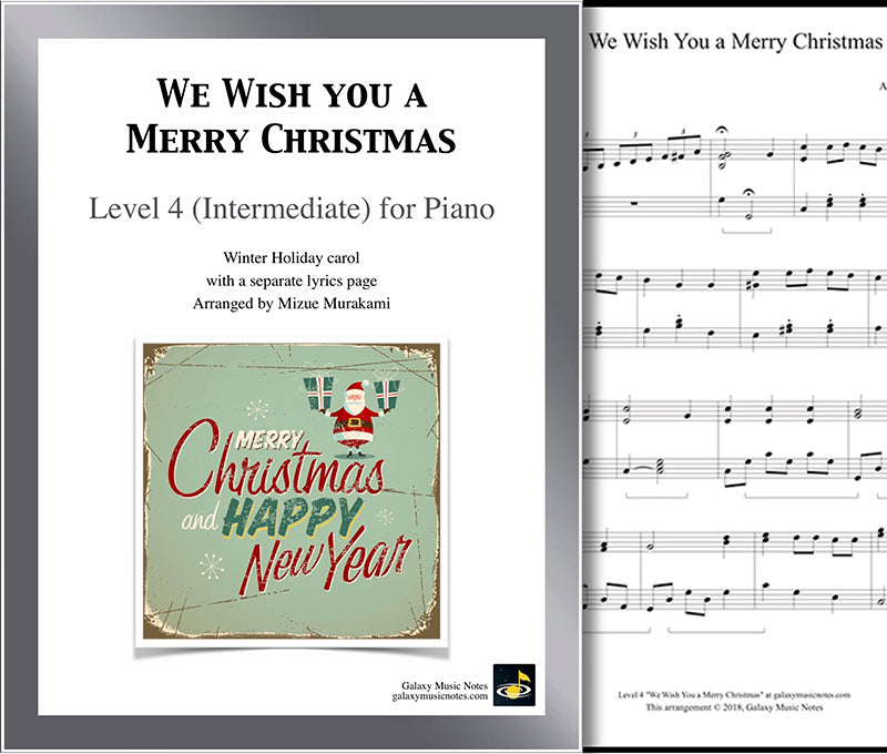 We Wish You a Merry Christmas: Level 4 - Cover & 1st page