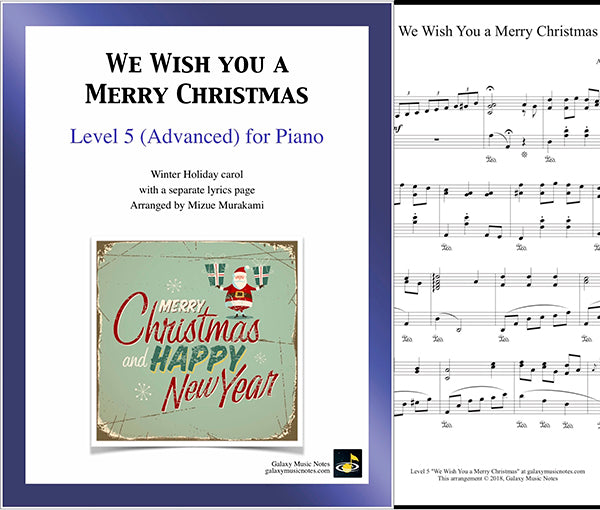 We Wish You a Merry Christmas Level 5 - Cover & 1st page