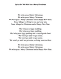 We Wish You a Merry Christmas: Level 2 - lyrics page