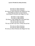 We Wish You a Merry Christmas: Lyrics page