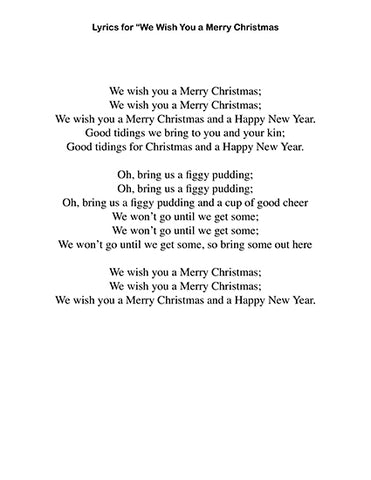 photo about We Wish You a Merry Christmas Lyrics Printable named We Drive Yourself a Merry Xmas