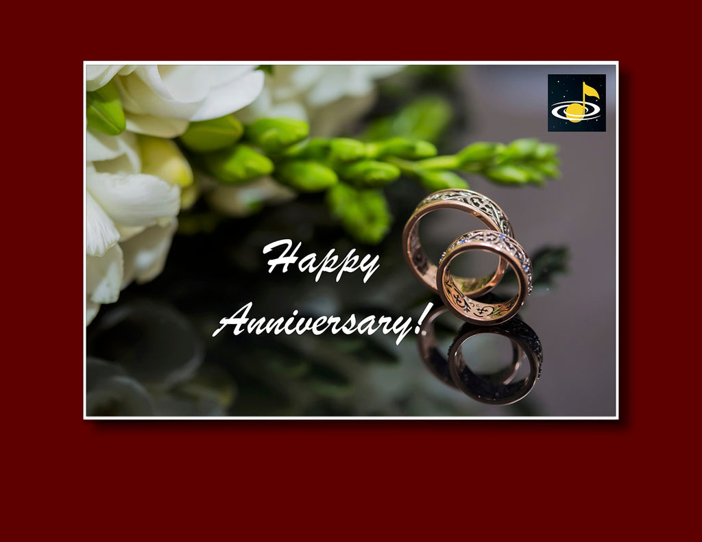 eGift Card: Wedding Anniversary - from Galaxy Music Notes