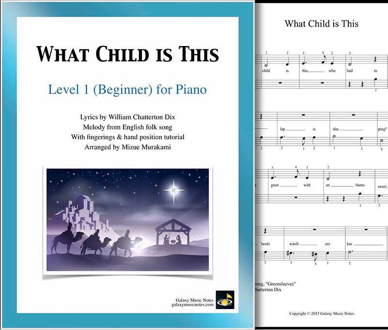 What Child is This Level 1 - Cover sheet & 1st page