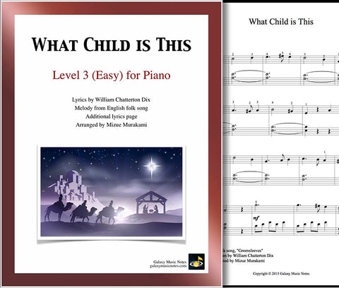 What Child is This: Level 3 - cover sheet