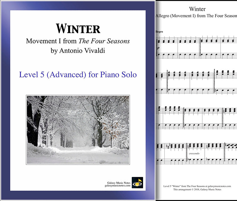 Winter MVMT1: Level 5 - 1st piano page & cover