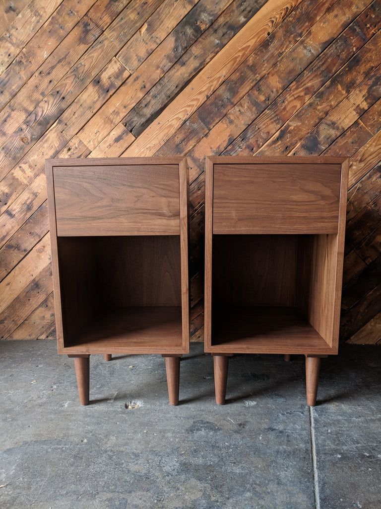 Custom Pair of mid century style night stands