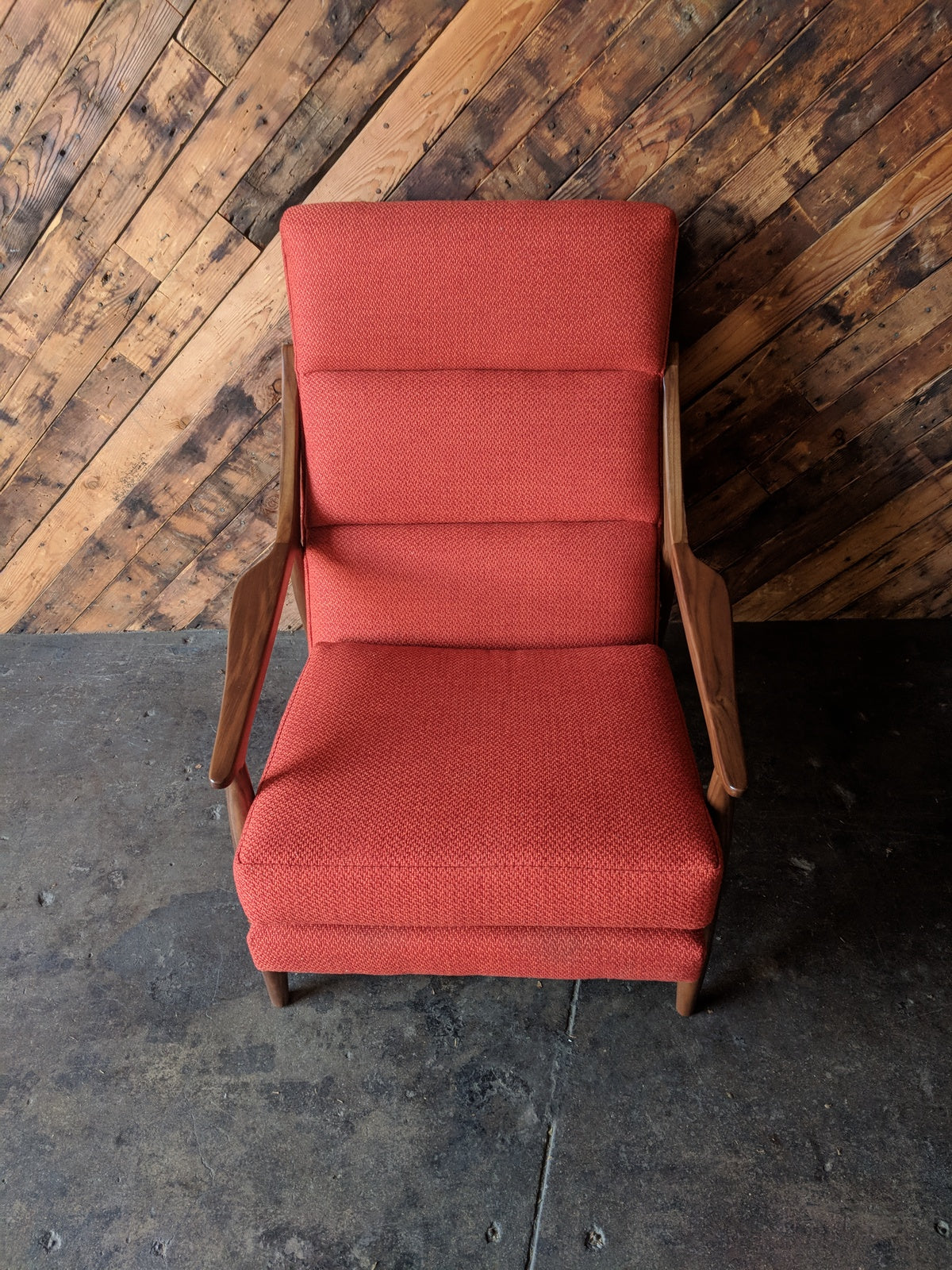 Custom Danish Mid Century Style Lounge Chair