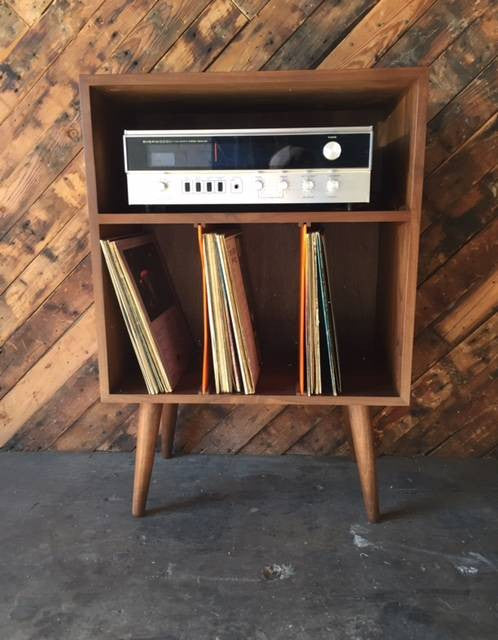 Mid Century Style Mini Credenza Record Stand The Hunt Vintage
