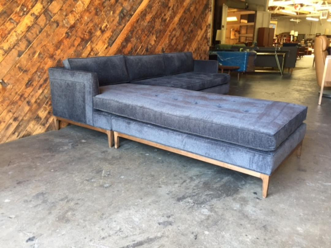Mid Century Style Custom Reversible Sofa Chaise Lounge The Hunt