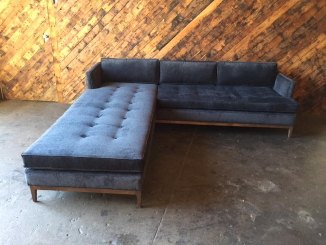 Mid Century Style Custom Reversible Sofa Chaise Lounge