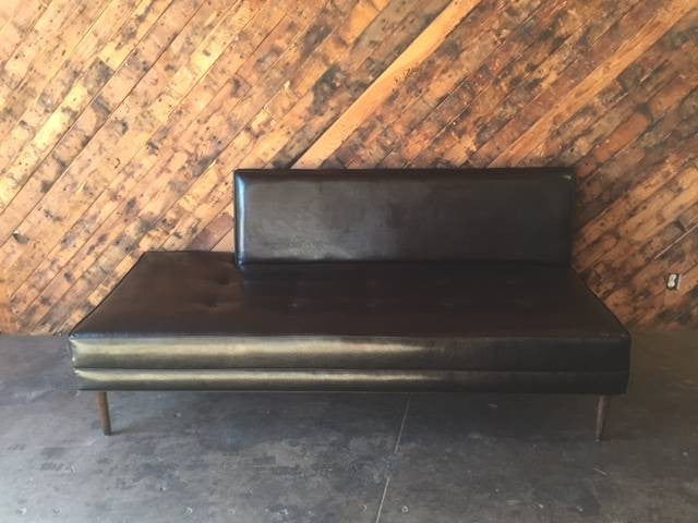 Mid Century Style Custom Day Bed Sofa with Ottoman