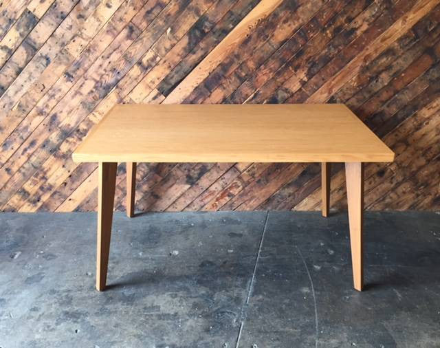Mid Century Style Custom Oak Desk Dining Table