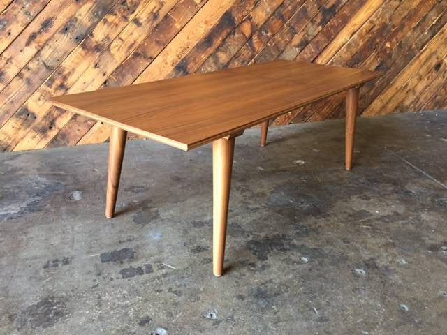 Mid Century Style Custom Walnut Coffee Table