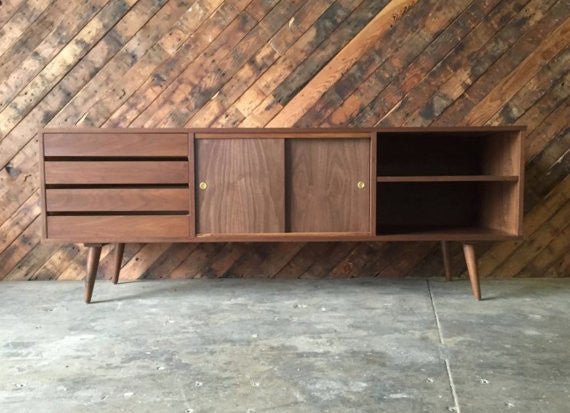 Incredible Mid Century Style Custom Media Console/ Credenza