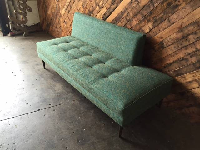 Mid Century Style Custom Turquoise Day Bed Sofa