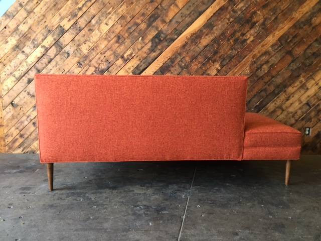 Mid Century Style Custom Day Bed Tweed Sofa