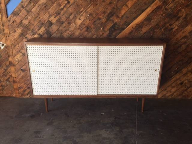 Mid Century Style Custom Perforated X Large Credenza