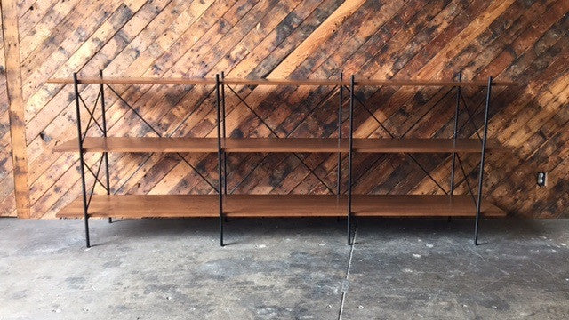 Custom Hand Made Iron Walnut Shelf