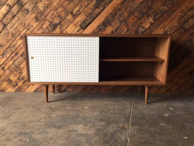 Mid Century Style Custom Perforated Credenza