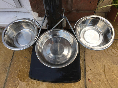 Outdoor dog feeding station - holds 3 bowls - £9.99
