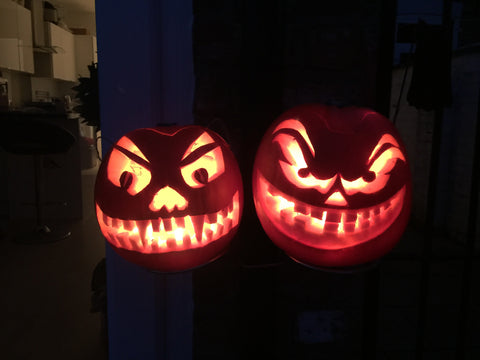 Halloween Pumpkin Holder - Double. £5.99
