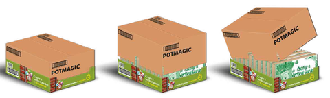 Retail Unit - Till Topper containing 10 individual 3-Pack Vertical Garden Products by PotMagic - for drainpipes - £59.99