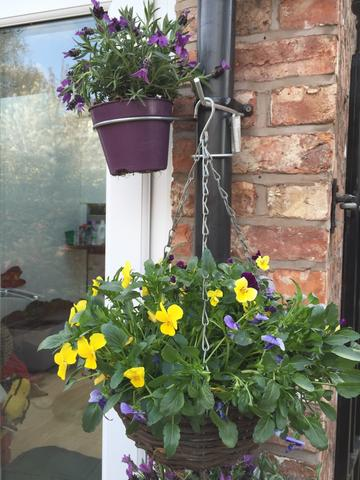 Mixed 2 Pk with 1 plant pot hanging bracket and 1 bird feeder / hanging basket bracket for drainpipes. £6.99