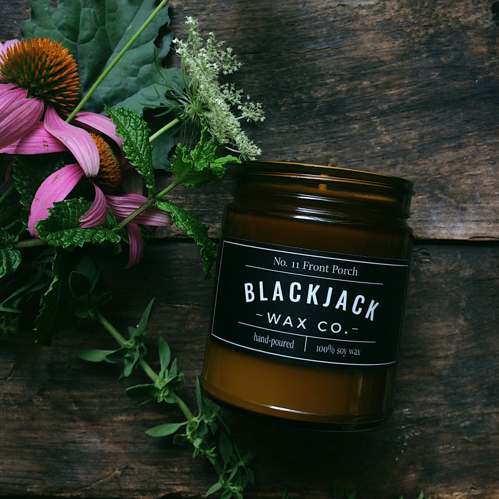 Front Porch Honeysuckle & Jasmine soy wax candle