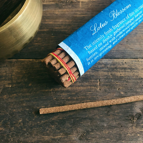 Lotus Blossom Incense- Handcrafted by Tibetan Nuns