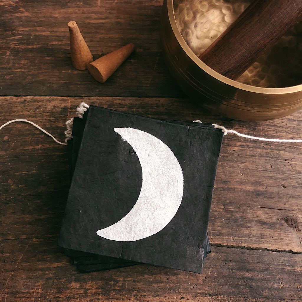 Moon Phases Prayer Flags