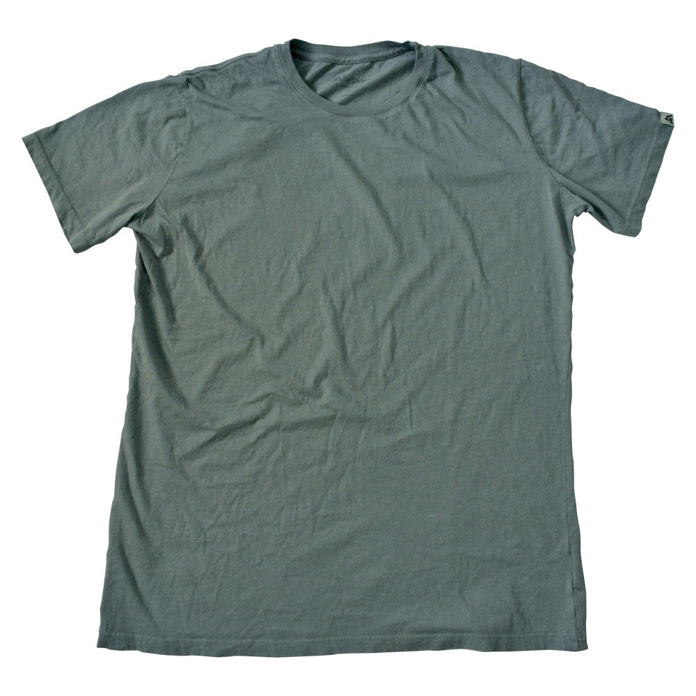 Organic cotton garment-dyed t-shirts sage