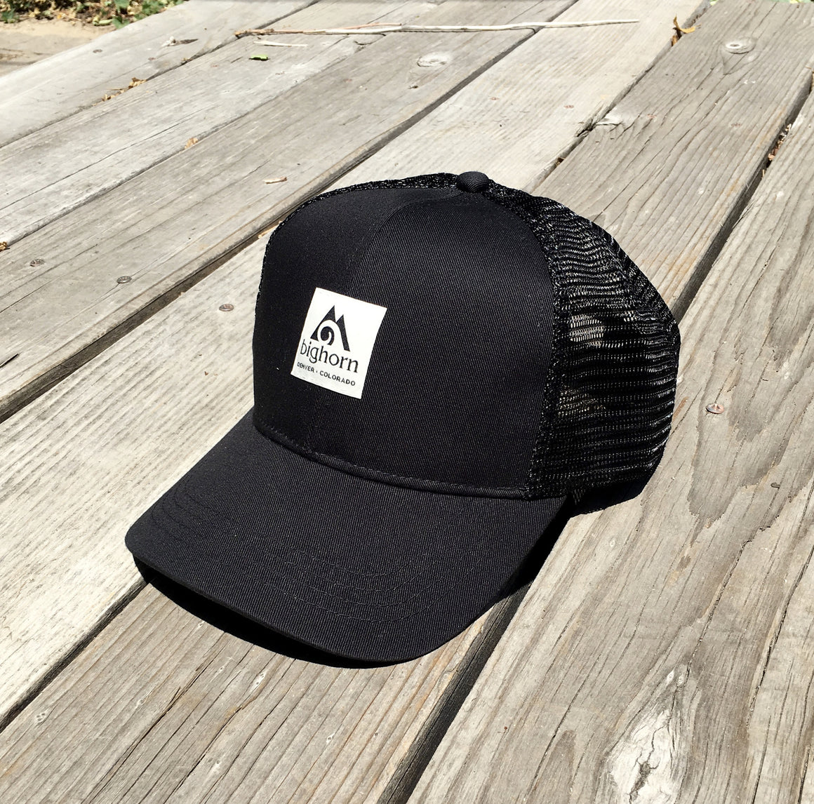 Organic cotton / recycled polyester hat - all black